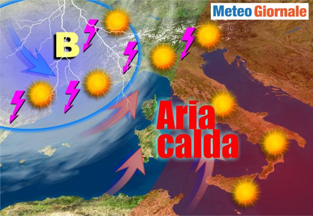 Caldo africano al top nel weekend, poi temperature in calo. Dettagli