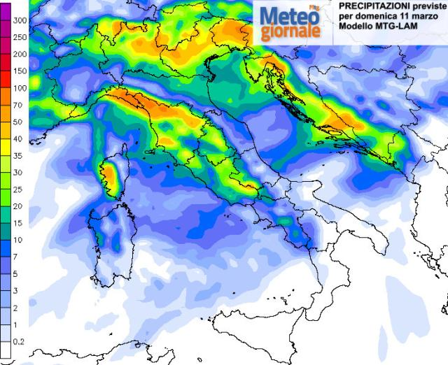 MALTEMPO in arrivo nel weekend, domenica FORTI PIOGGE al Nord e Toscana