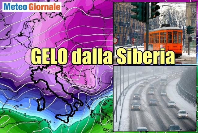 Buran, neve e gelo sull'Abruzzo a partire da domenica pomeriggio