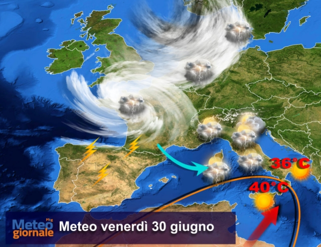 Meteo weekend, dopo i temporali tornano sole e afa