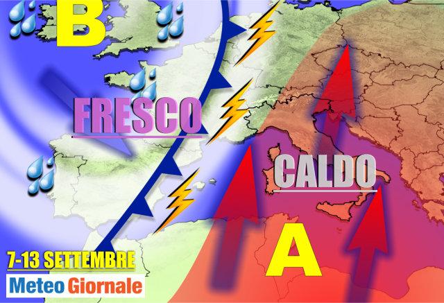 Meteo 31 Agosto: arrivano temporali e fresco sull'Italia