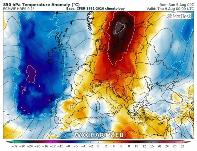 Ancora una settimana di caldo torrido, ma c'è rischio di temporali